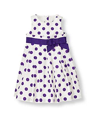 Jet Ivory Dot Polka Dot Dress at JanieandJack
