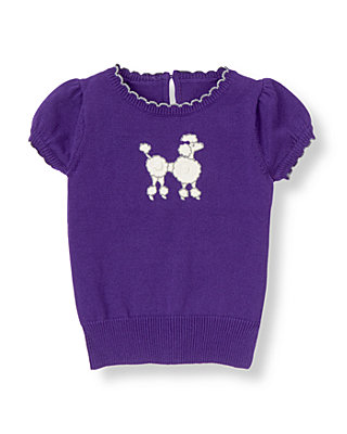 Violet Purple Poodle Sweater at JanieandJack