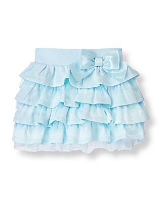 Stardust Blue Tiered Knit Skirt at JanieandJack