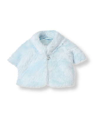 Stardust Blue Faux Fur Crop Jacket at JanieandJack