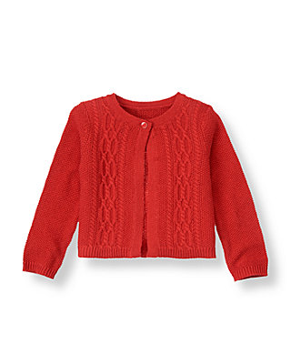 Penguin Red Cable Cardigan at JanieandJack