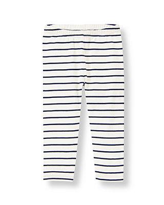 Jet Ivory Stripe Stripe Legging at JanieandJack