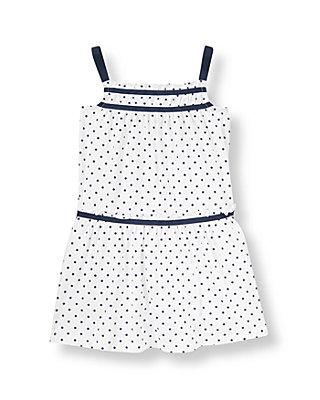 White Dot Dot Knit Dress at JanieandJack