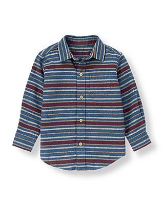 Mulberry Stripe Stripe Flannel Shirt at JanieandJack
