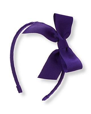 Violet Purple Bow Headband at JanieandJack