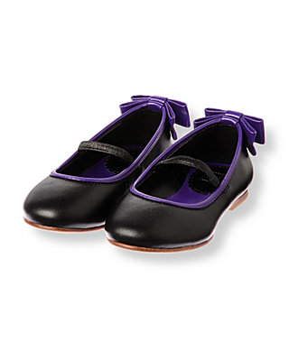 Violet Purple Bow Tipped Shoe at JanieandJack