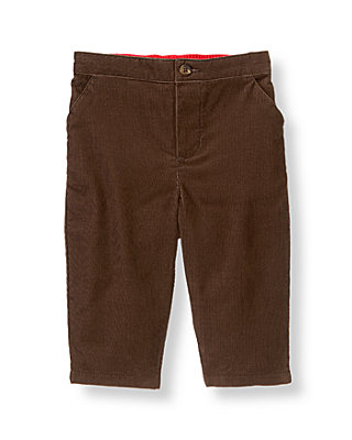 Baby Boy Moose Brown Corduroy Pant at JanieandJack