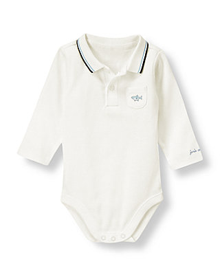 Jet Ivory Shark Polo Bodysuit at JanieandJack