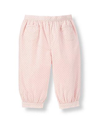Layette Blush Pink Dot Pindot Poplin Pant at JanieandJack