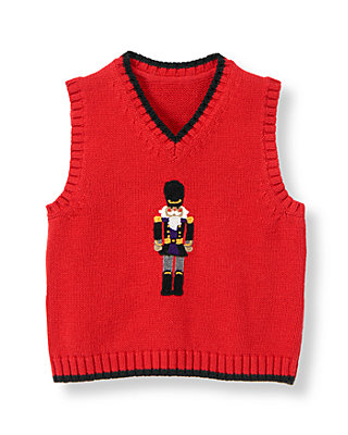 Nutcracker Red Nutcracker Sweater Vest at JanieandJack