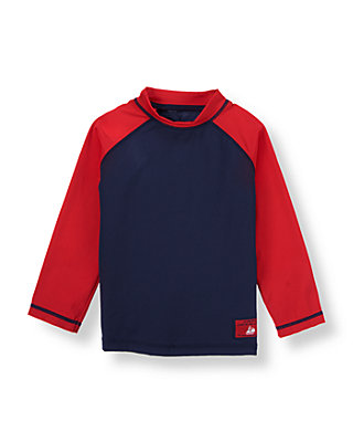 Navy/Red Rash Guard at JanieandJack