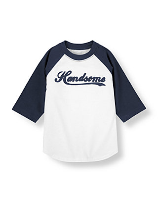 White/Dark Navy Handsome Tee at JanieandJack