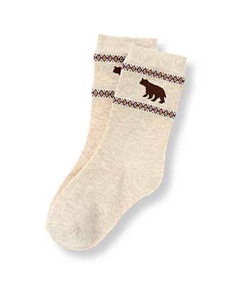 Boys Sandy Heather Bear Sock at JanieandJack