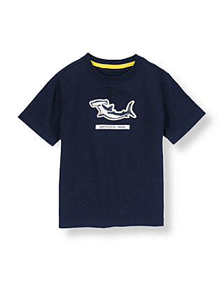 Dark Navy Shark Tee at JanieandJack