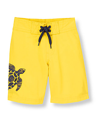 Bright Yellow Turtle Swim Trunk at JanieandJack
