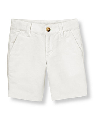 Pure White Linen Blend Short at JanieandJack