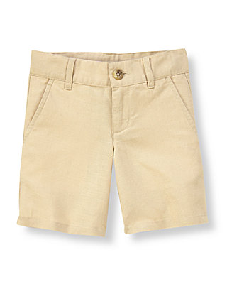 Classic Khaki Linen Blend Short at JanieandJack