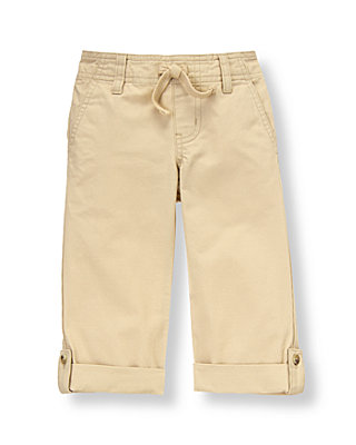 Classic Khaki Roll Cuff Canvas Pant at JanieandJack