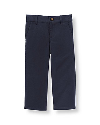 Classic Navy Linen Blend Pant at JanieandJack