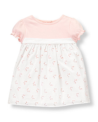 Baby Girl Butterfly Pink Butterfly Eyelet Dress at JanieandJack