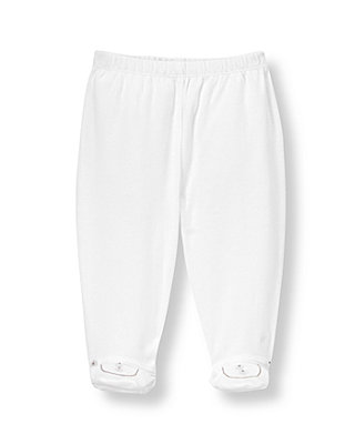 Pure White Footed Pant at JanieandJack