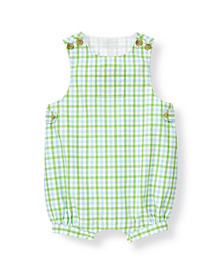 Reed Green Check Gingham Shortall at JanieandJack