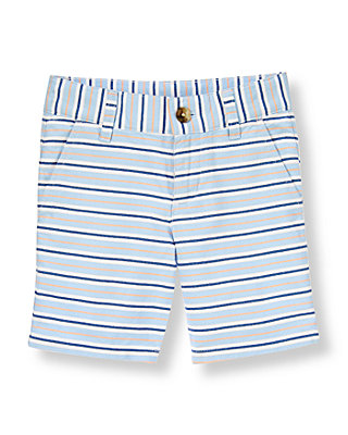 Coastal Blue Stripe Oxford Stripe Short at JanieandJack