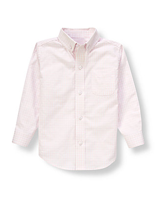Pale Pink Stripe Dobby Dress Shirt at JanieandJack
