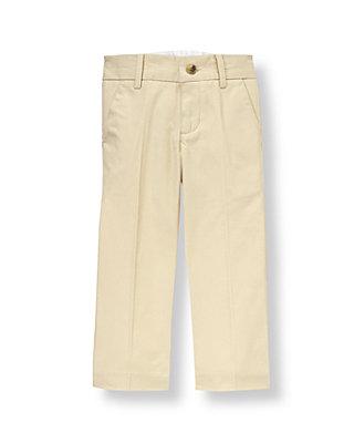 Classic Khaki Twill Suit Trouser at JanieandJack