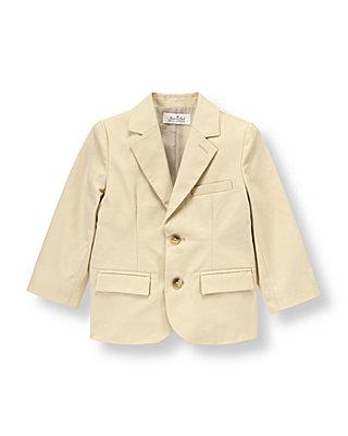 Classic Khaki Twill Suit Blazer at JanieandJack