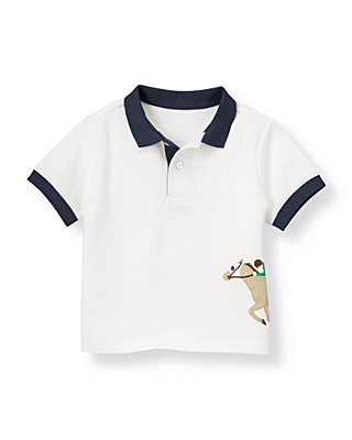 Pure White Horse Jockey Polo at JanieandJack