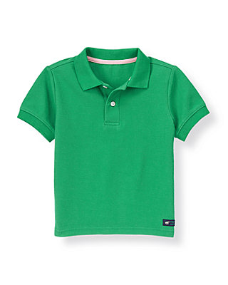 Derby Green Pique Polo Shirt at JanieandJack