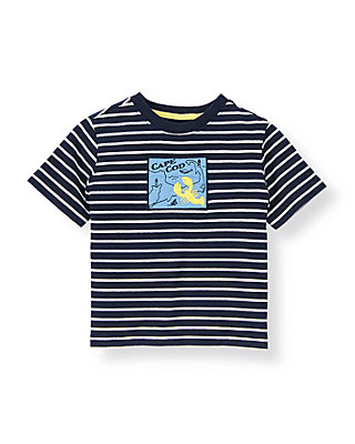 Classic Navy Stripe Cape Cod Striped Tee at JanieandJack
