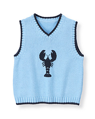 Boys Shoreline Blue Lobster Sweater Vest at JanieandJack