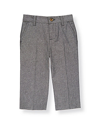 Boys Chambray Chambray Suit Trouser at JanieandJack
