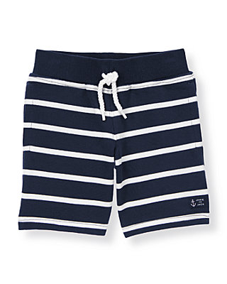 Boys Classic Navy Stripe Stripe Terry Short at JanieandJack