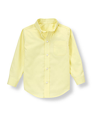 Citron Yellow Dobby Dress Shirt at JanieandJack