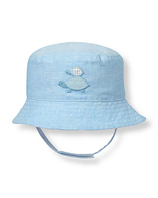 Turtle Blue Turtle Reversible Hat at JanieandJack