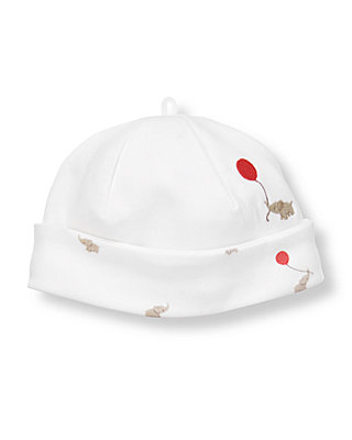 Baby Boy Pure White/Elephant Elephant Reversible Beanie at JanieandJack