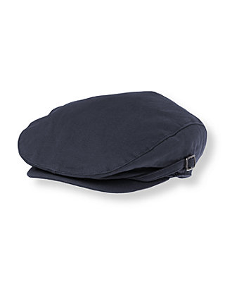 Boys Classic Navy Canvas Cap at JanieandJack