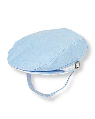 Baby Boy Blue Linen Linen Blend Cap at JanieandJack