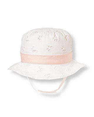 Butterfly Pink Butterfly Eyelet Hat at JanieandJack