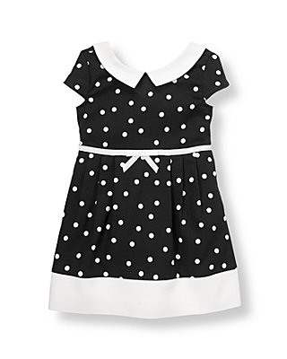 Black Dot Dot Pique Dress at JanieandJack