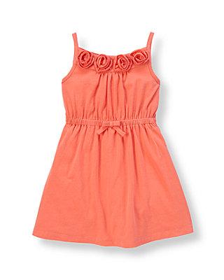 Coral Breeze Rosette Knit Dress at JanieandJack