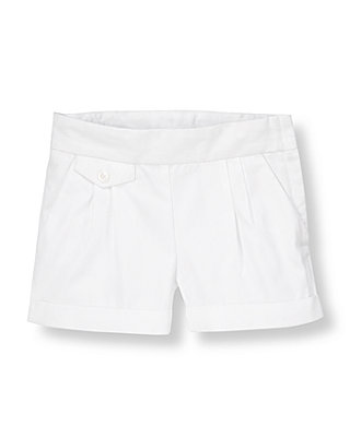 Pure White Cuffed Short at JanieandJack