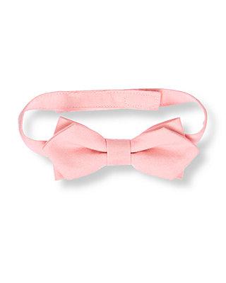 Boys Classic Pink Linen Blend Bowtie at JanieandJack