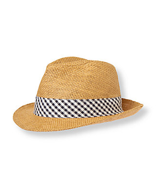 Boys Natural Straw Fedora at JanieandJack