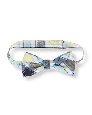 Boys Shoreline Blue Plaid Plaid Bowtie at JanieandJack