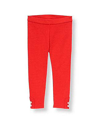 Vintage Red Button Cuff Ponte Pant at JanieandJack