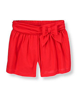 Vintage Red Bow Culotte Short at JanieandJack